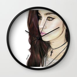 Lauren Jauregui Coloured Pencil Drawing #2 Wall Clock
