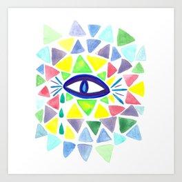 Crystaleyes Art Print