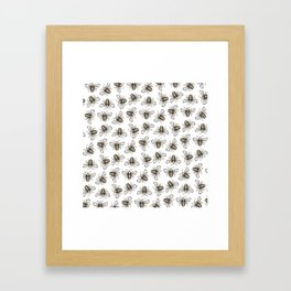 Bee Pattern - Katrina Niswander Framed Art Print