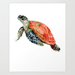 Sea Turtle, turtle art, turtle design Art Print