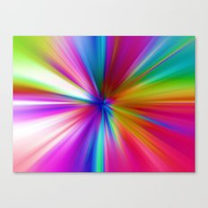 Rainbow Zoom Canvas Print