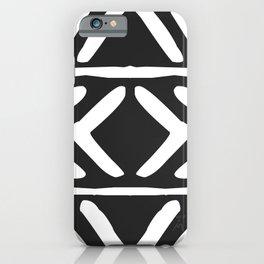 Tribal Print B&W- 04 iPhone Case