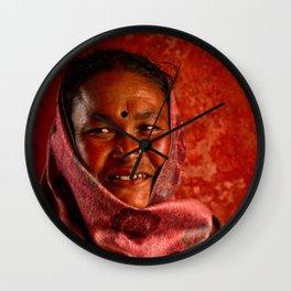 Nepalese woman of Sindhupalchowk, Nepal Wall Clock