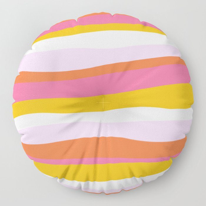 cali beach stripes Floor Pillow