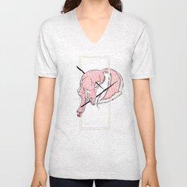 Pink Fox Unisex V-Neck