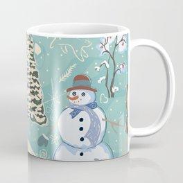 Snowman In Woods Coffee Mug
