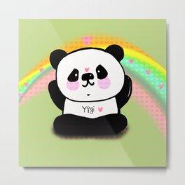 Yogi Panda Metal Print