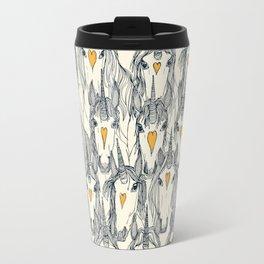 unicorn love indigo citrus pearl Travel Mug
