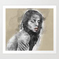 dreaming woman Art Print