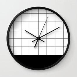 Scandi Grid Sq B Wall Clock