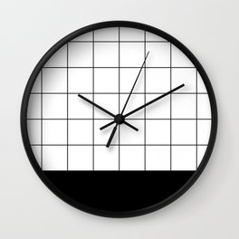 Scandi Grid Sq B Wall Clock