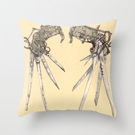 Scissorhands(Antique) Throw Pillow
