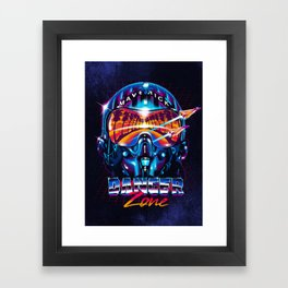 Danger Zone Framed Art Print