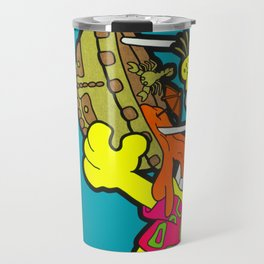 A Reason To Get Out Of Bed - garfield pop art painting Travel Mug