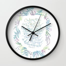 You Are My Hiding Place - Psalm 32:7 Wall Clock