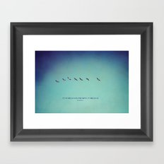 It's What You see Framed Art Print