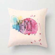Merci Throw Pillow