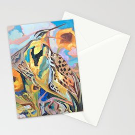 Meadowlark With Sunflowers Stationery Cards