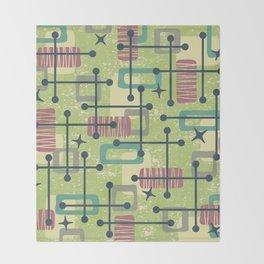 Mid Century Modern Abstract Pattern 832 Throw Blanket