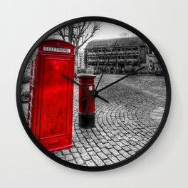 Post Box Phone Box London Wall Clock
