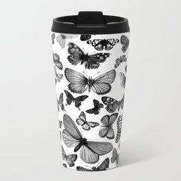 BUTTERFLY CLUSTER MONO Metal Travel Mug