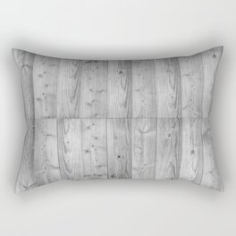 Wood Planks in black and white Rectangular Pillow