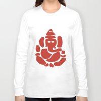 hindu Long Sleeve T-shirts featuring Ganesh - Hindu God by ialbert