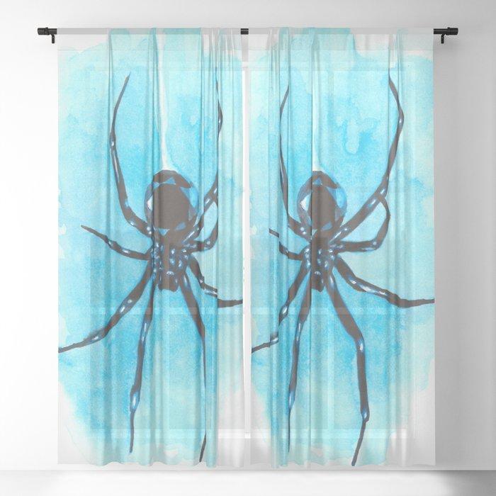 Diamond spider Sheer Curtain