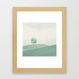 Green Sunny Field I Framed Art Print