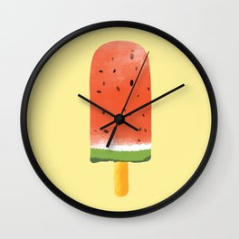 Watermelon Popsicle #society6 #decor #buyart Wall Clock