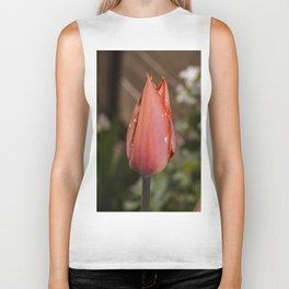 Orange Tulip raindrop's Biker Tank