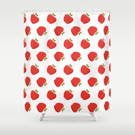 Delious Apple Pattern Shower Curtain