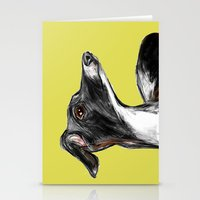 greyhound Stationery Cards featuring Greyhound by James Peart