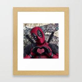 Dead pool - Sweet superhero Framed Art Print