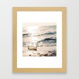 Message in the bottle- Winter Baltic Sea Serie Framed Art Print