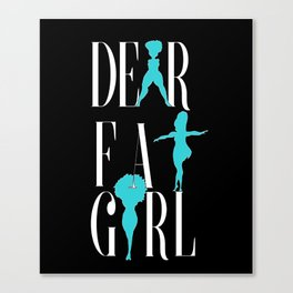 Dear Fat Girl Canvas Print