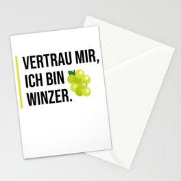 Vertrau mir ich bin Winzer Stationery Cards