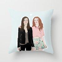 lydia martin Throw Pillows featuring Cora Hale/Lydia Martin by vulcains
