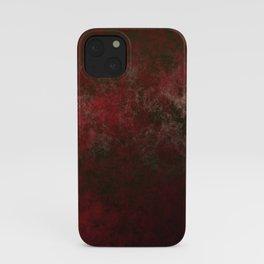 Grunge bright red iPhone Case
