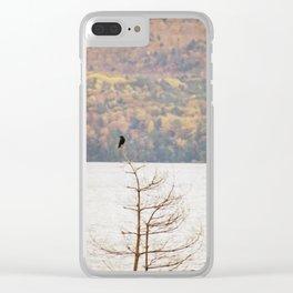 Fall Bird Clear iPhone Case