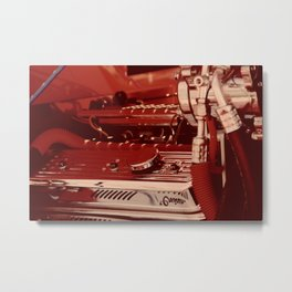 Car Motor in Red Metal Print