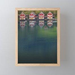 4 HOUSES Framed Mini Art Print