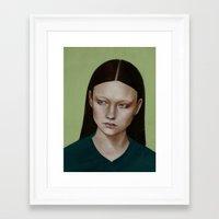 dahlia Framed Art Prints featuring Dahlia by Kalynn Burke