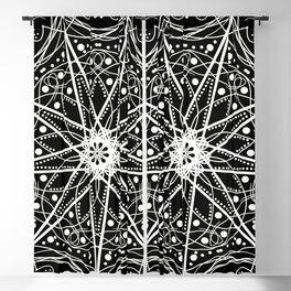 Mandala Black Spindle Blackout Curtain