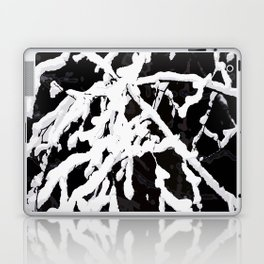 Snowy Branches On Black Background #decor #society6 Laptop & iPad Skin