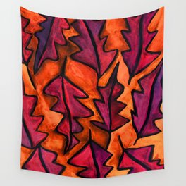 Autumn fire leaves Wall Tapestry
