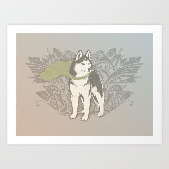 Fearless Creature: Eski Art Print