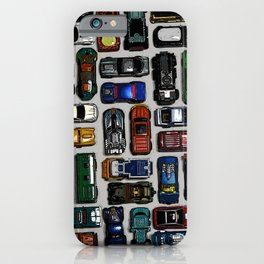 Toy cars pattern iPhone Case