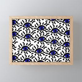 china eyes Framed Mini Art Print