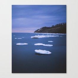 Winter Water | Frankfort, Michigan | John Hill Photography Canvas Print